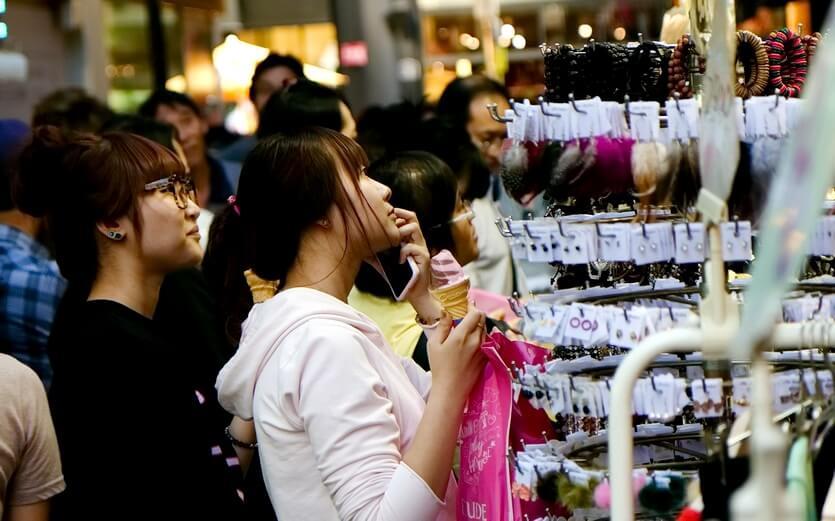 шоппинг в южной корее