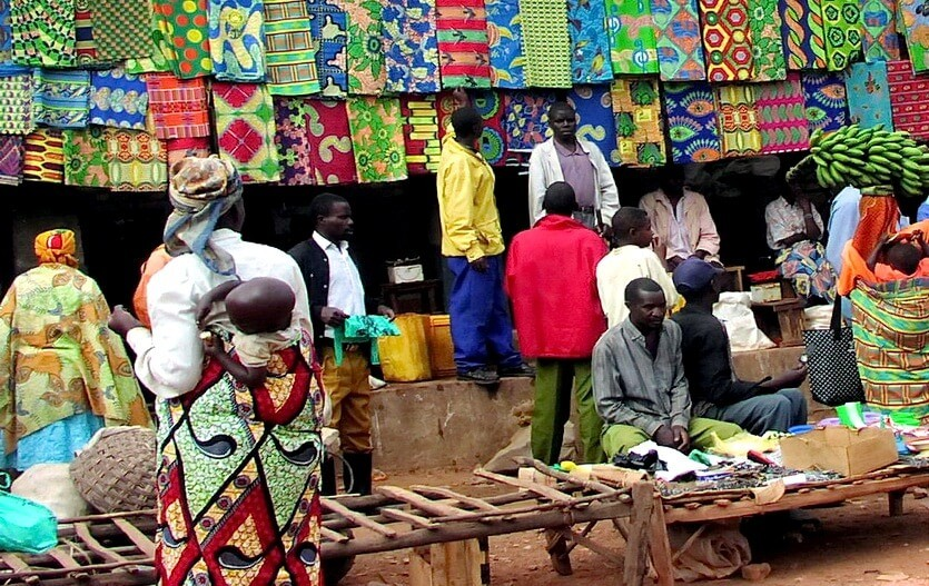рынок в руанде