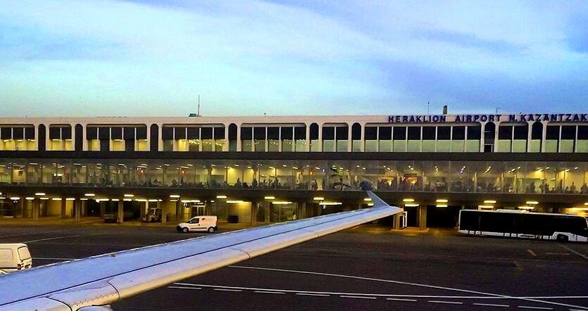 аэропорт в ираклионе крит