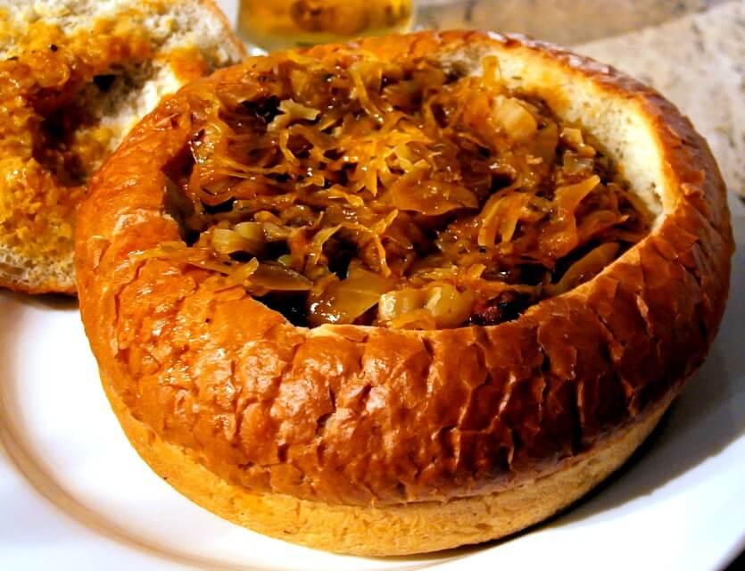бигос в хлебе
