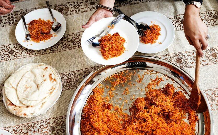 бирьяни индийское блюдо