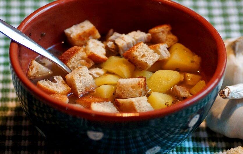 чеснечка чешский суп