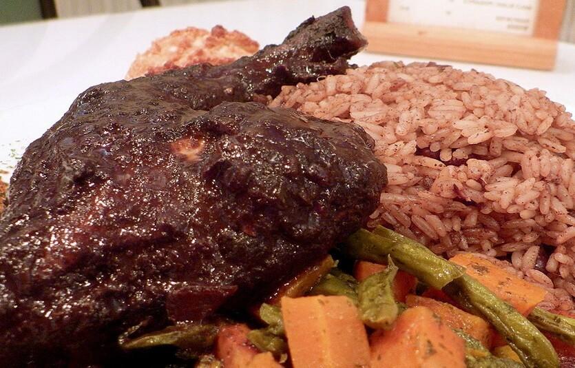 джерк чикен ямайское блюдо