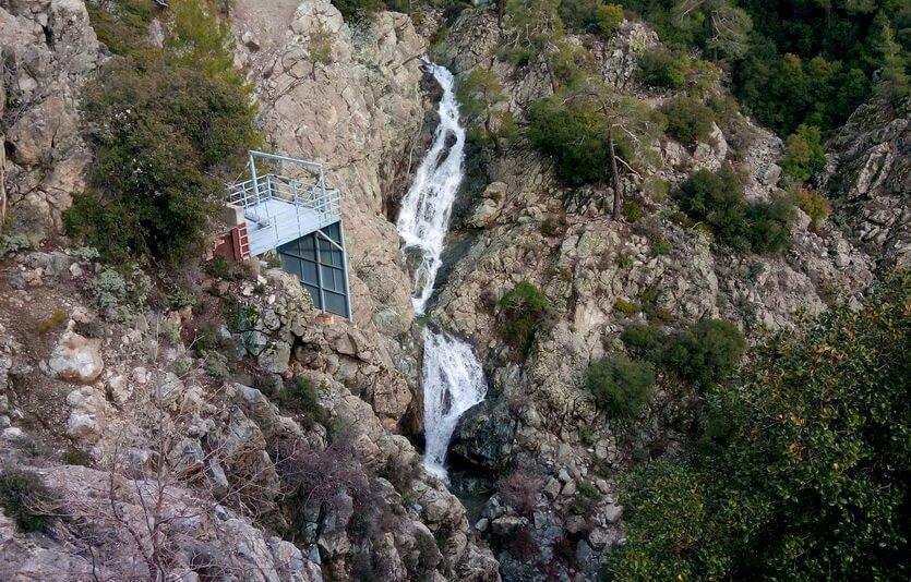 водопад в троодосе